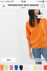 Zara jumper €12.95