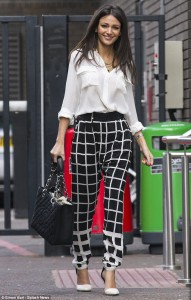 Michelle wearing a gorgeous pair of silk trousers from Six Ames (House of Fraser)