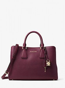 Michael Kors Plum Leather Handbag