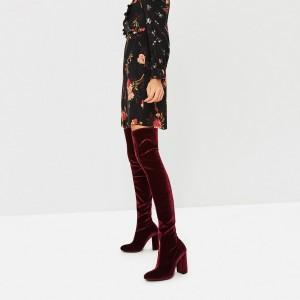 Velvet boots €69.95 Zara