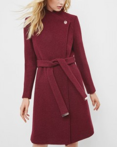 Burgandy wrap coat €395 Ted Baker