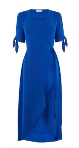 Blue wrap dress Warehouse