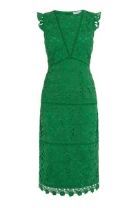Green lace dress Warehouse